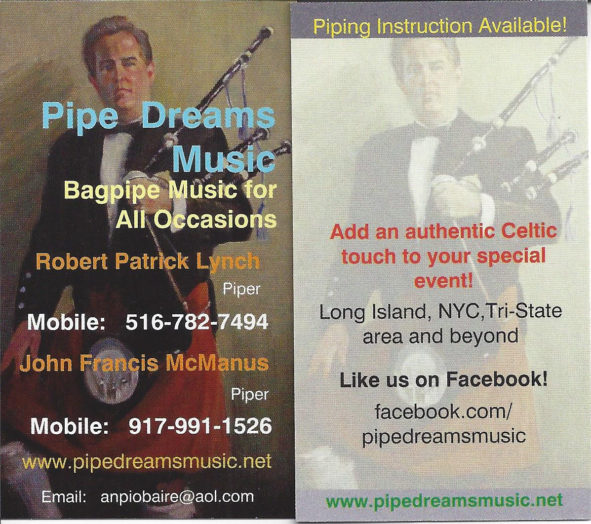 Pipe Dreams Card 2016