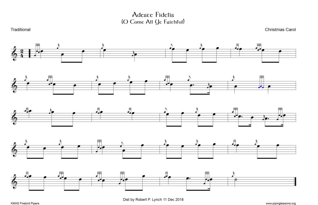 Adeste Fidelis (O Come all ye Faithful) – Ceol na nGleannta – Music